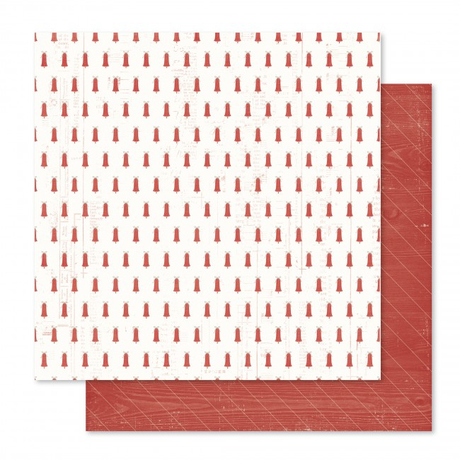 Papel estampado Doble cara 12x12-Yuletide-Sweater Weather