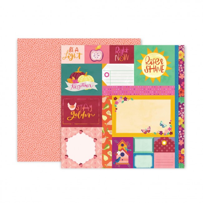 Papel Estampado Doble Cara 12x12 Truly Grateful Paige Evans Paper 1