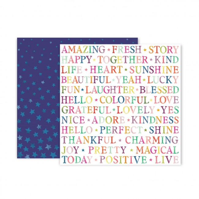 Papel Estampado Doble Cara 12x12 Truly Grateful Paige Evans Paper 13