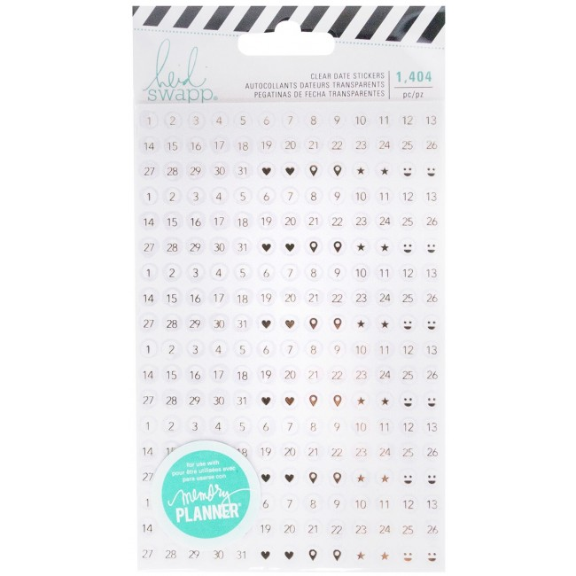 Pegatinas Clear Memory Planner Fresh Start - Date
