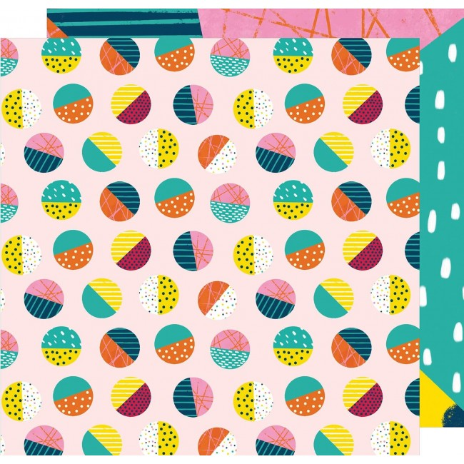 Papel Estampado Doble Cara 12x12 - Box Of Crayons - On A Roll