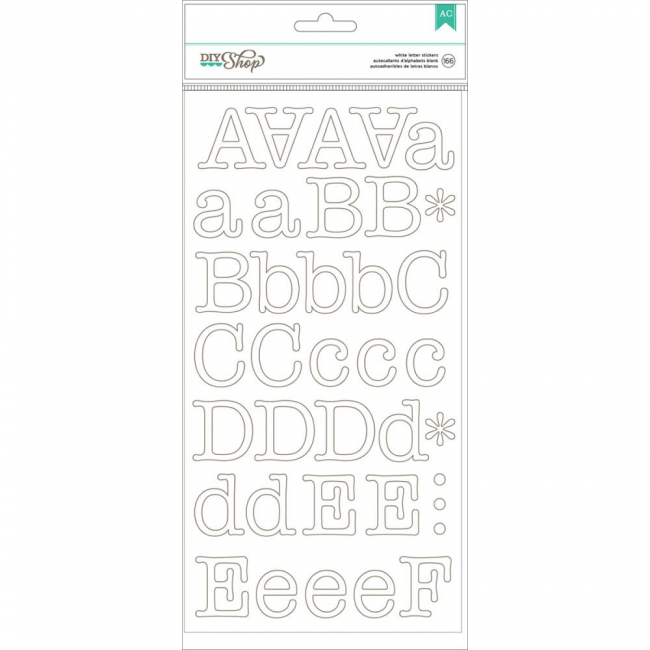 Pegatinas alfabetos Typewriter/White Alpha Stickers