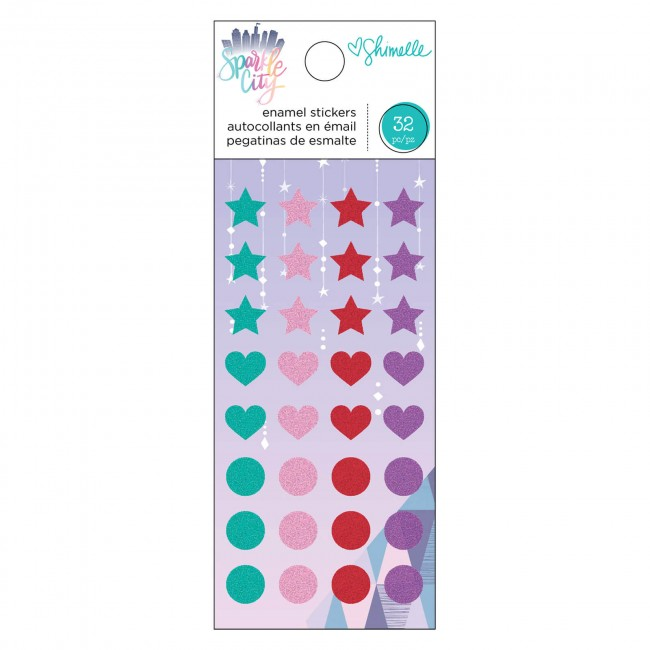 Enamel Dots Sparkle City