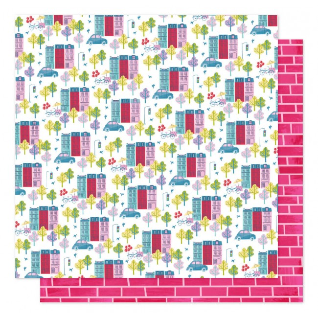 Papel Estampado Doble Cara 12x12 Sparkle City Our House