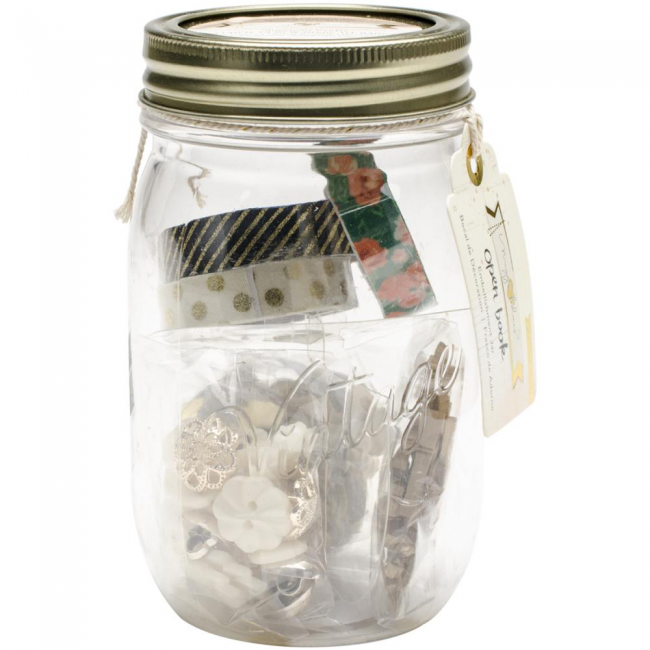 Open Book Embellishment Jar