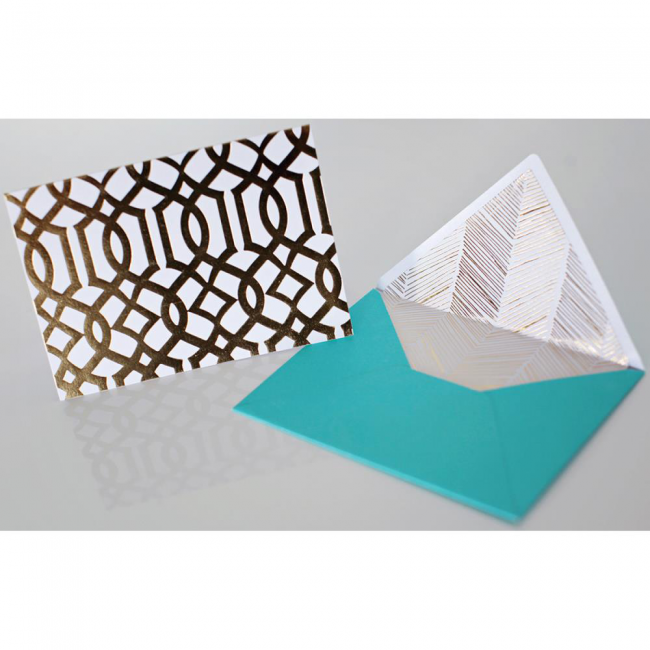 Tarjetas y sobres Lattice