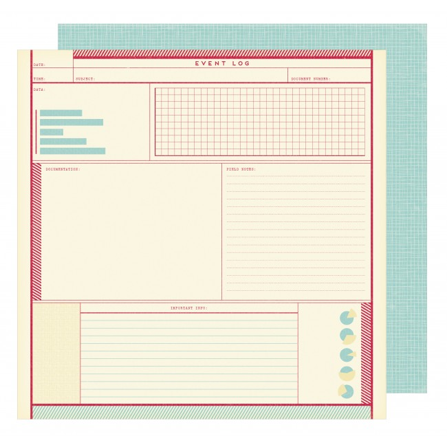 Papel estampado Doble cara 12x12 Starshine Apollo