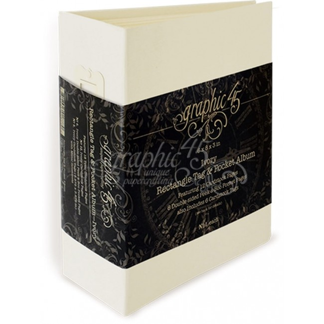 "Álbum Staples - Tag & Pocket Ivory - 8"" x 6"""