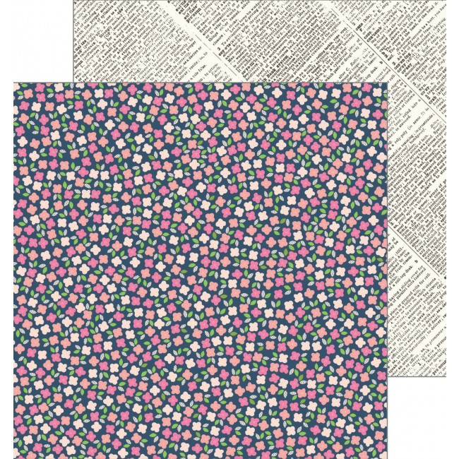 Papel Estampado Doble Cara 12x12 - Patio Party - Scattered Posies