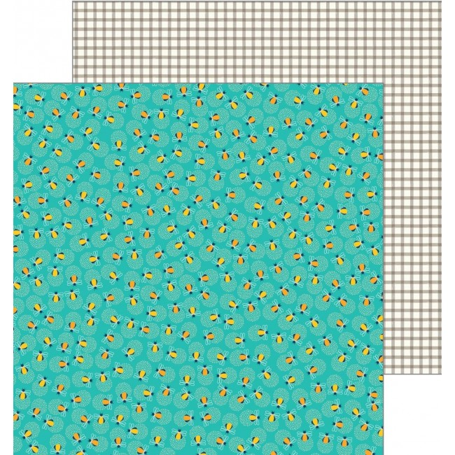 Papel Estampado Doble Cara 12x12   Patio Party   Glow