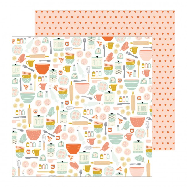 Papel Estampado Doble Cara 12x12 This Is Family Baking Day