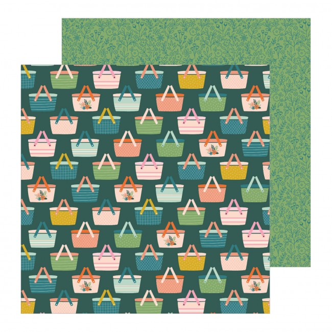 Papel Estampado Doble Cara 12x12 This Is Family Picnic