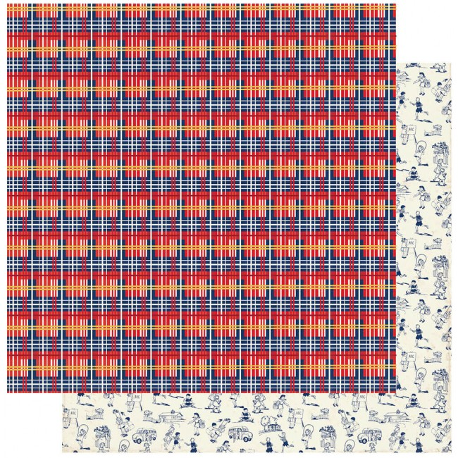 Papel Estampado Doble Cara 12x12 Scholastic #3 Plaid