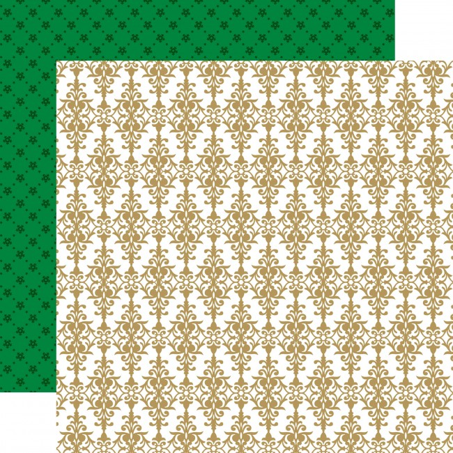 Papel Estampado Doble Cara 12x12 - Deck The Halls - Cheery Damask