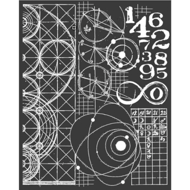 Stencil Cosmos Cristina Radovan Astronomy And Numbers