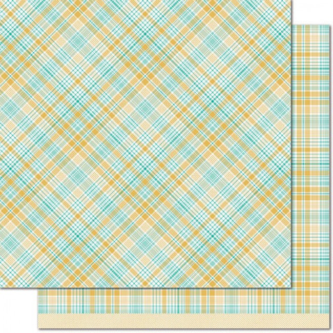 Papel Estampado Doble Cara 12x12 - Perfectly Plaid