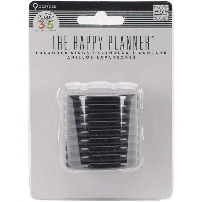 Anillas Happy Planner Grandes Black