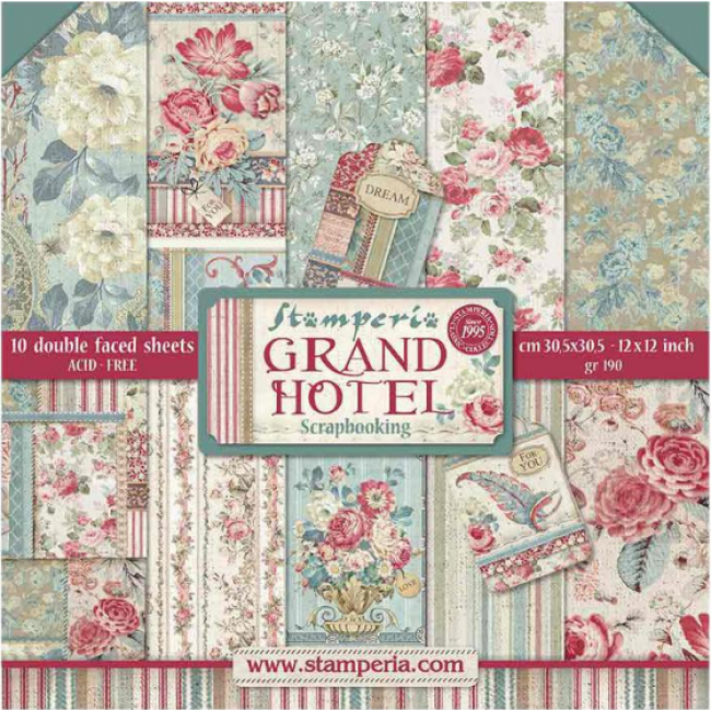 Kit Papeles Estampados 12x12 Grand Hotel