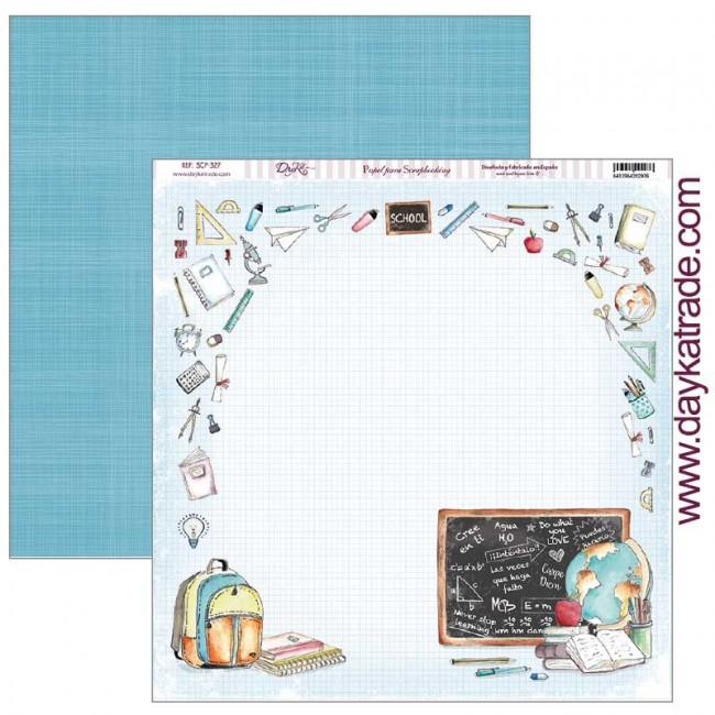 Papel Estampado Doble Cara 12x12 School School