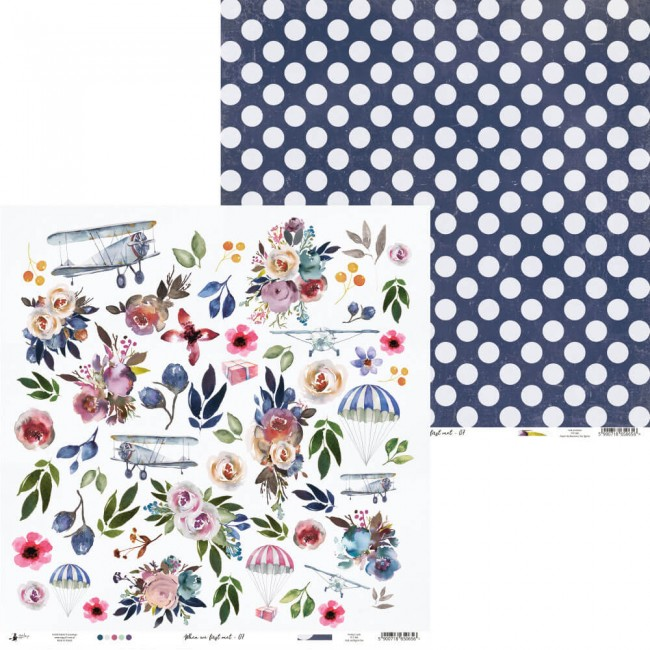 Papel Estampado Doble Cara 12x12 When We First Met 07