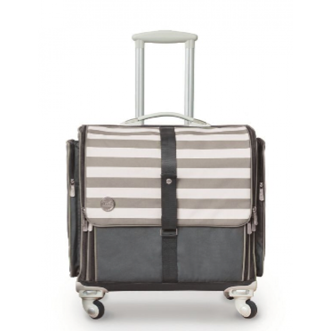 360 Crafters's Rolling Bag Gris y Blanco