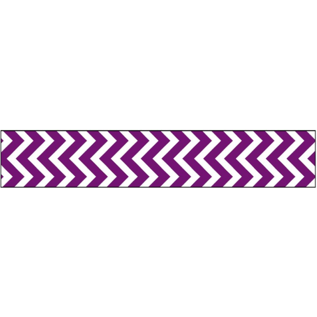 Cinta Glitter Purple Chevron .625""