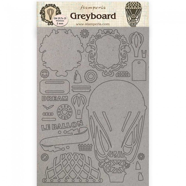Chipboard A4 Voyages Fantastiques Air baloon
