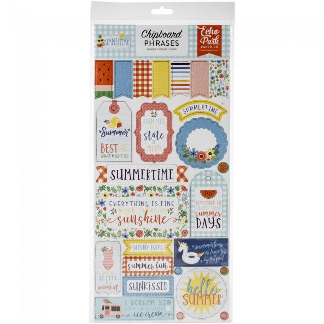 Chipboard 6x13 Summertime Phrases