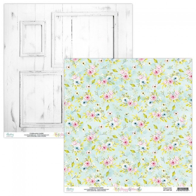 Papel Estampado Doble Cara 12x12 Happy Place 04