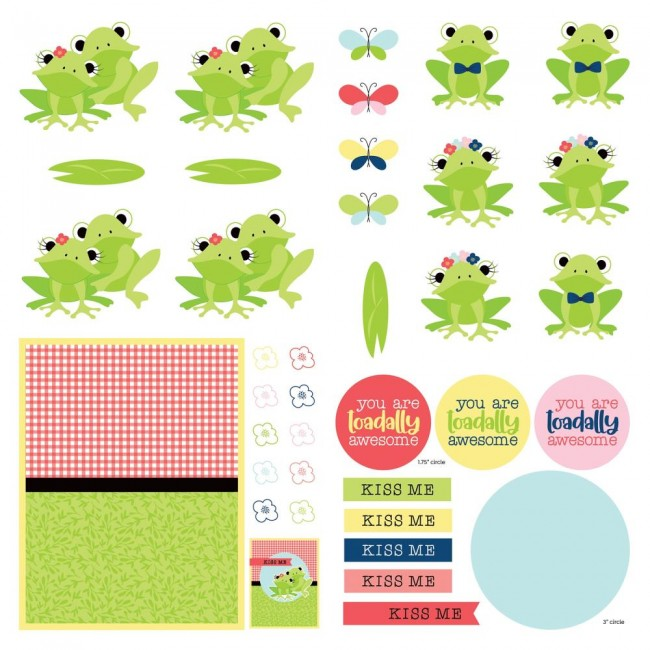 Papel Estampado Doble Cara 12x12 Fern & Willard