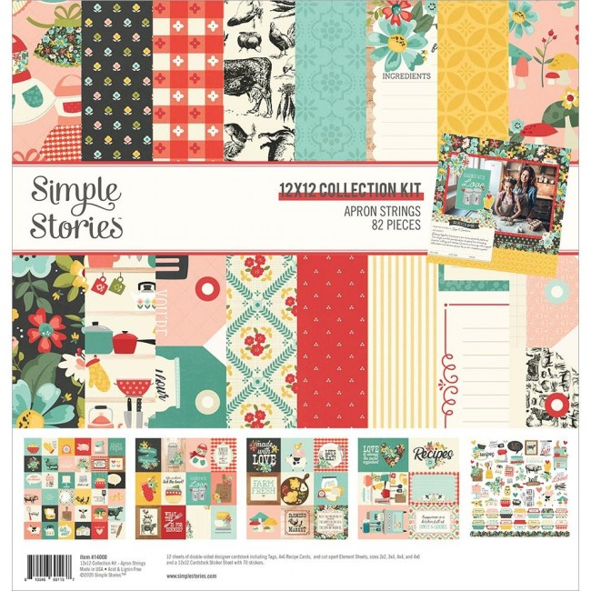 Kit Papeles Estampados 12x12 Apron Strings
