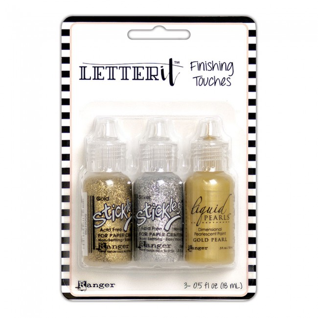 Kit Stickles y Liquid Pearls Letter It Glitz