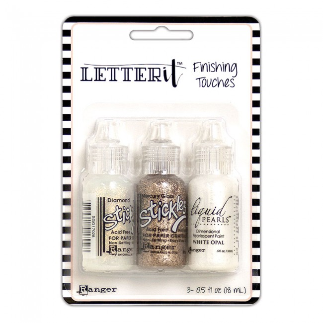 Kit Stickles y Liquid Pearls Letter It Glam