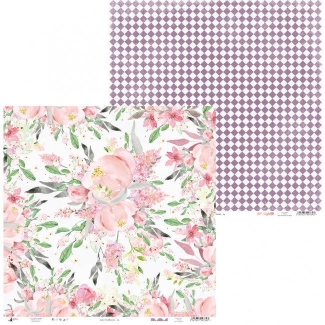 Papel Estampado Doble Cara 12x12 Love In Bloom 04