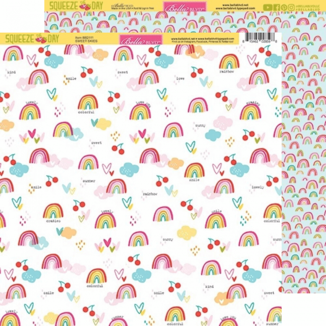 Papel Estampado Doble Cara 12x12 Squeeze The Day Sweet Skies