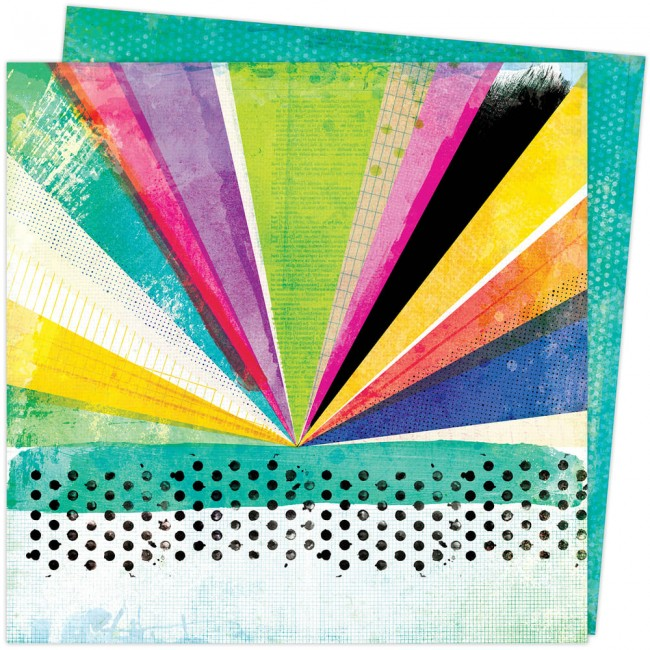 Papel Estampado Doble Cara 12x12 Color Study Vicki Boutin Array of Colors