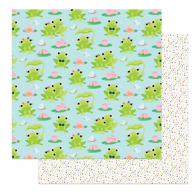 Papel Estampado Doble Cara 12x12 Fern & Willard Lily Pond