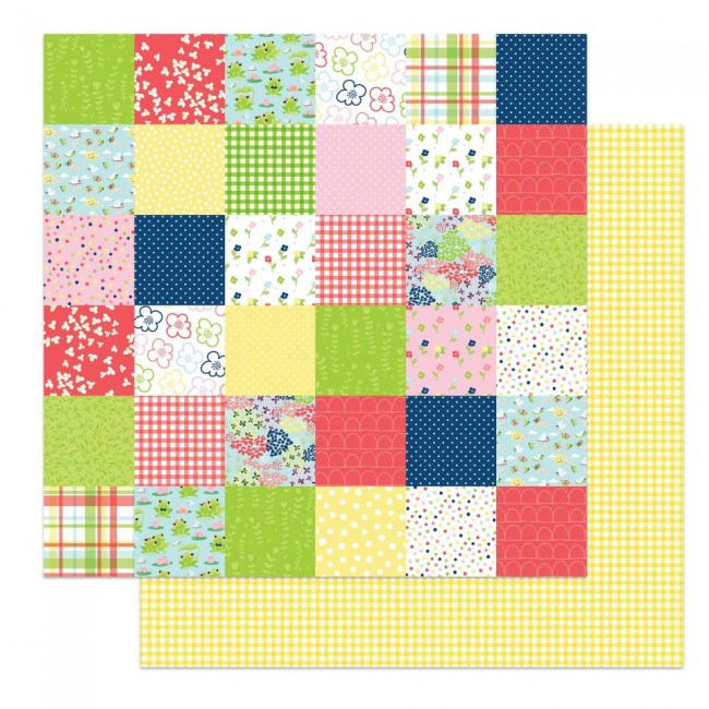 Papel Estampado Doble Cara 12x12 Fern & Willard Little Bits