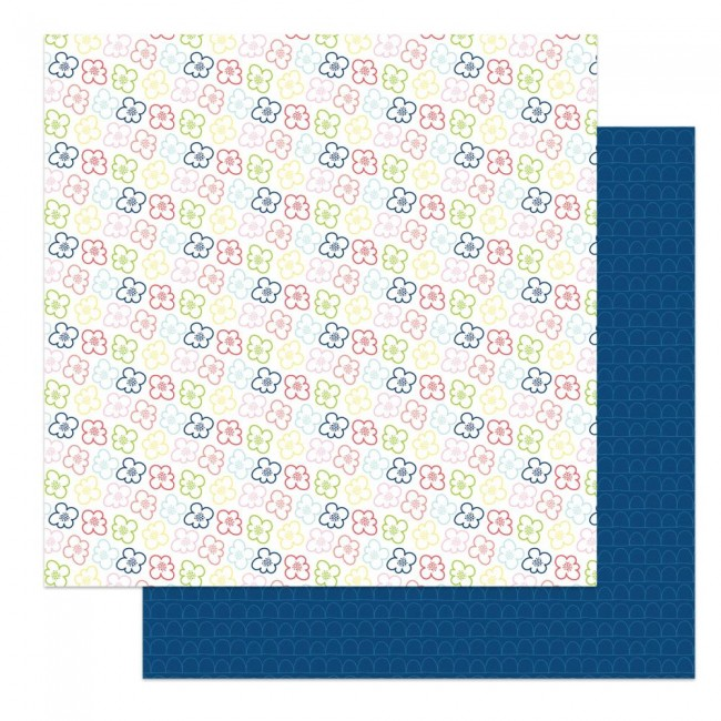 Papel Estampado Doble Cara 12x12 Fern & Willard Pocket Full Of Posies