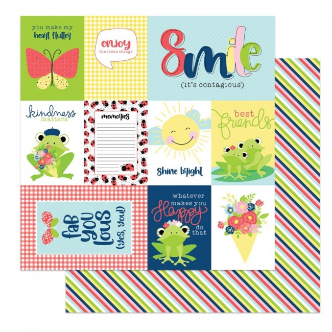 Papel Estampado Doble Cara 12x12 Fern & Willard Smile