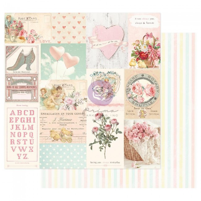 Papel Estampado Doble Cara 12x12 Magic Love By Frank Garcia All My Heart All For You