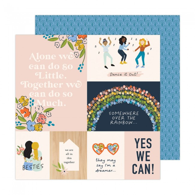 Papel Estampado Doble Cara 12x12 Reaching Out Jen Hadfield Better Together
