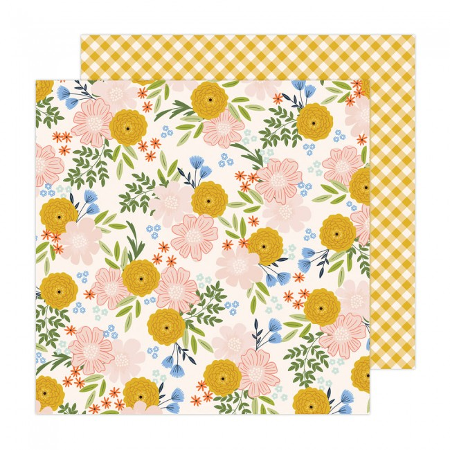Papel Estampado Doble Cara 12x12 Reaching Out Jen Hadfield Blossoms For You