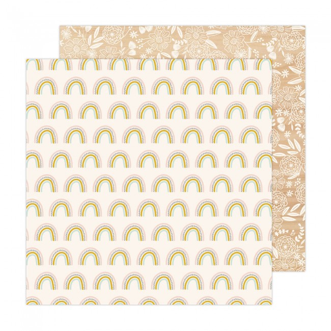 Papel Estampado Doble Cara 12x12 Reaching Out Jen Hadfield Over The Rainbow