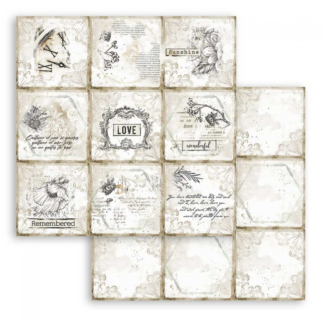 Papel Estampado Doble Cara 12x12 Romantic Collection Journal cards