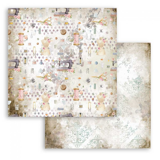 Papel Estampado Doble Cara 12x12 Romantic Collection Threads texture