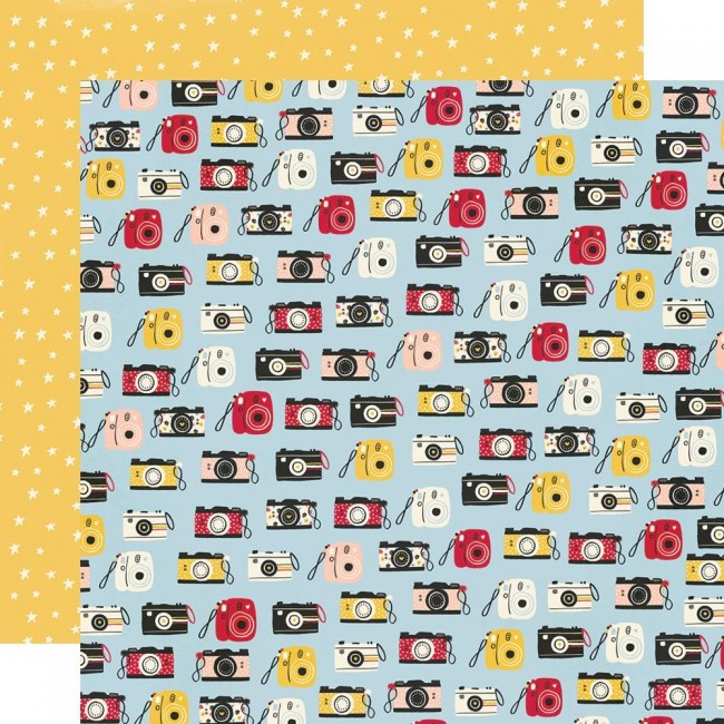 Papel Estampado Doble Cara 12x12 Say Cheese Main Street Full Of Smiles