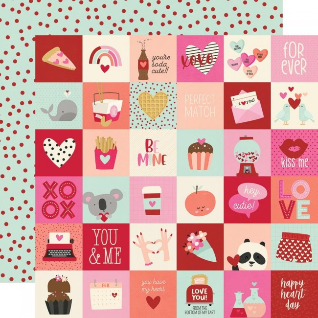"Papel Estampado Doble Cara 12x12 Sweet Talk 2""X2"" Elements"