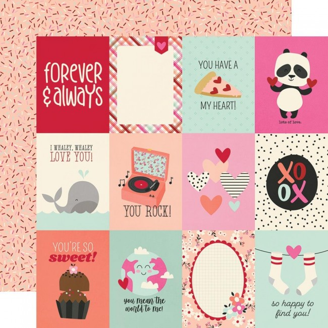 "Papel Estampado Doble Cara 12x12 Sweet Talk 3""X4"" Elements"