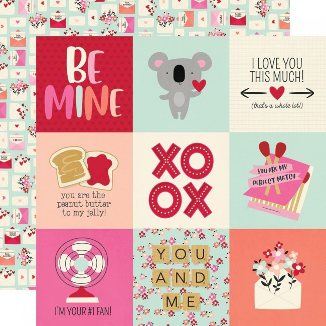 "Papel Estampado Doble Cara 12x12 Sweet Talk 4""X4"" Elements"